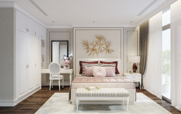 Nội thất phòng ngủ thiết kế tân cổ điển 1