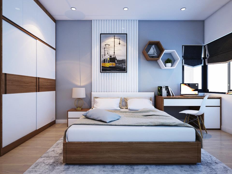 Nội thất phòng ngủ làm từ gỗ công nghiệp 1