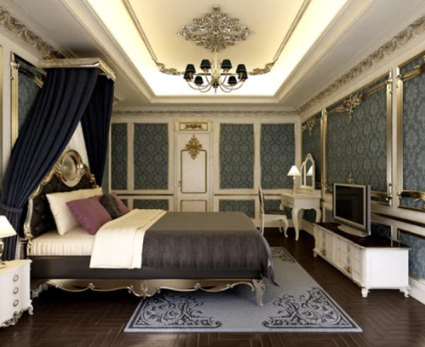 Mẫu phòng ngủ cho các thành viên trong lâu đài cổ điển ở Lâm Hà-1