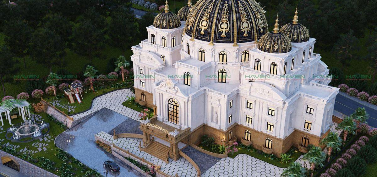 Một trong những thiết kế lâu đài cổ điển ở Thạch Mỹ đẹp nhất