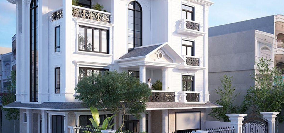 Thiết kế kiến trúc biệt thự ở Lạc Dương phong cách Tân Cổ Điển