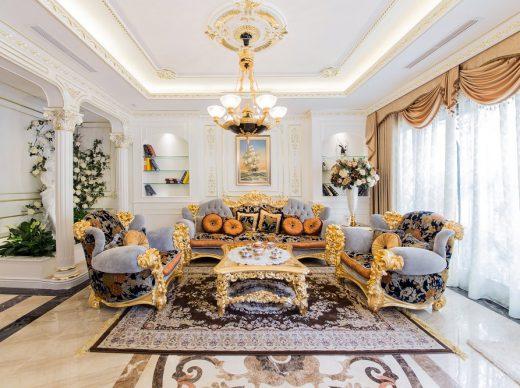 Thiết kế nội thất phòng khách cho biệt thự cần lưu ý những gì?-1
